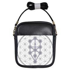 Tree Of Life Flower Of Life Stage Girls Sling Bags