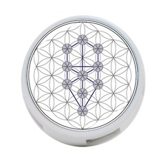 Tree Of Life Flower Of Life Stage 4-Port USB Hub (One Side)