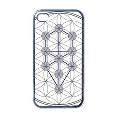 Tree Of Life Flower Of Life Stage Apple iPhone 4 Case (Black)