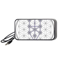 Tree Of Life Flower Of Life Stage Portable Speaker (Black)