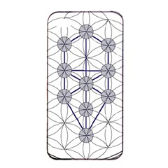 Tree Of Life Flower Of Life Stage Apple iPhone 4/4s Seamless Case (Black)