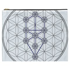 Tree Of Life Flower Of Life Stage Cosmetic Bag (XXXL)