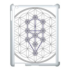 Tree Of Life Flower Of Life Stage Apple iPad 3/4 Case (White)
