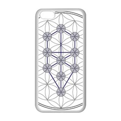 Tree Of Life Flower Of Life Stage Apple iPhone 5C Seamless Case (White)