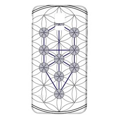 Tree Of Life Flower Of Life Stage Samsung Galaxy S5 Back Case (White)