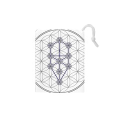 Tree Of Life Flower Of Life Stage Drawstring Pouches (XS)