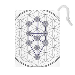 Tree Of Life Flower Of Life Stage Drawstring Pouches (Extra Large)
