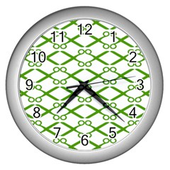 Wallpaper Of Scissors Vector Clipart Wall Clocks (Silver)