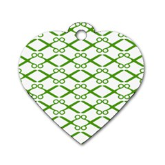 Wallpaper Of Scissors Vector Clipart Dog Tag Heart (One Side)