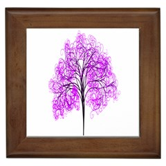 Purple Tree Framed Tiles