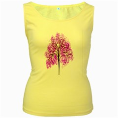 Purple Tree Women s Yellow Tank Top