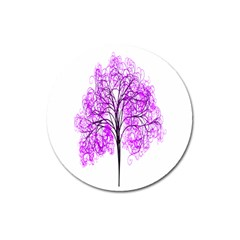Purple Tree Magnet 3  (Round)