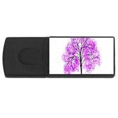 Purple Tree USB Flash Drive Rectangular (1 GB)