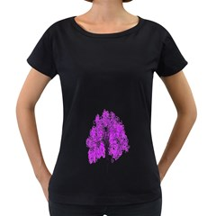 Purple Tree Women s Loose-Fit T-Shirt (Black)