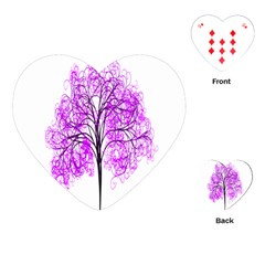 Purple Tree Playing Cards (Heart)