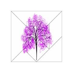 Purple Tree Acrylic Tangram Puzzle (4  x 4 )