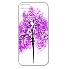 Purple Tree Apple Seamless iPhone 5 Case (Clear)