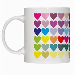 Heart Love Color Colorful White Mugs