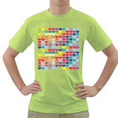Heart Love Color Colorful Green T-Shirt