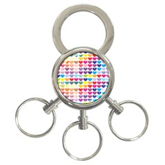 Heart Love Color Colorful 3-Ring Key Chains