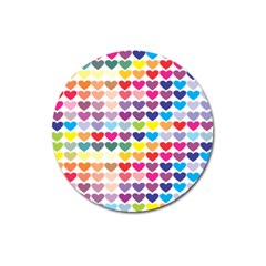Heart Love Color Colorful Magnet 3  (Round)
