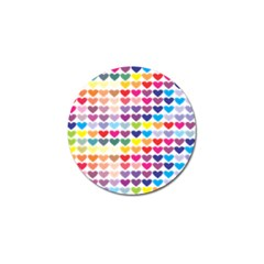 Heart Love Color Colorful Golf Ball Marker (4 pack)