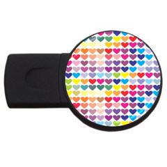 Heart Love Color Colorful USB Flash Drive Round (1 GB)