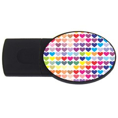Heart Love Color Colorful USB Flash Drive Oval (1 GB)