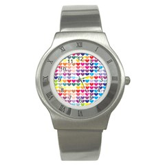 Heart Love Color Colorful Stainless Steel Watch
