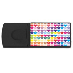 Heart Love Color Colorful USB Flash Drive Rectangular (4 GB)