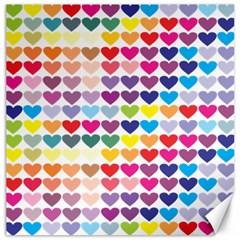 Heart Love Color Colorful Canvas 16  x 16