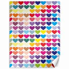Heart Love Color Colorful Canvas 36  x 48
