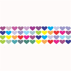 Heart Love Color Colorful Large Bar Mats