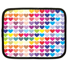 Heart Love Color Colorful Netbook Case (Large)