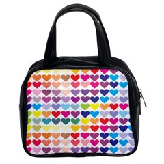 Heart Love Color Colorful Classic Handbags (2 Sides)