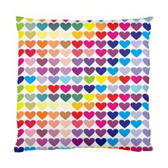 Heart Love Color Colorful Standard Cushion Case (one Side)
