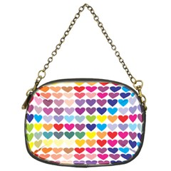 Heart Love Color Colorful Chain Purses (Two Sides)