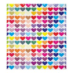 Heart Love Color Colorful Shower Curtain 66  x 72  (Large)