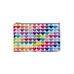 Heart Love Color Colorful Cosmetic Bag (Small)