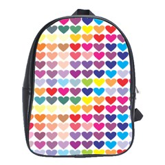 Heart Love Color Colorful School Bags(Large)