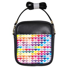 Heart Love Color Colorful Girls Sling Bags