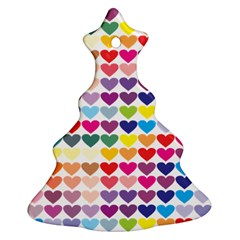 Heart Love Color Colorful Christmas Tree Ornament (Two Sides)