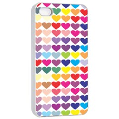Heart Love Color Colorful Apple iPhone 4/4s Seamless Case (White)