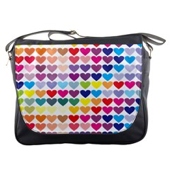 Heart Love Color Colorful Messenger Bags