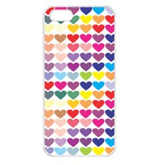 Heart Love Color Colorful Apple iPhone 5 Seamless Case (White)