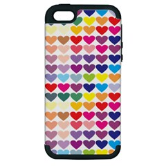 Heart Love Color Colorful Apple iPhone 5 Hardshell Case (PC+Silicone)