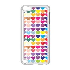Heart Love Color Colorful Apple iPod Touch 5 Case (White)