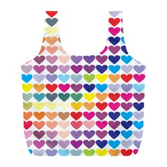 Heart Love Color Colorful Full Print Recycle Bags (L)