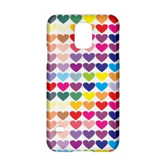 Heart Love Color Colorful Samsung Galaxy S5 Hardshell Case