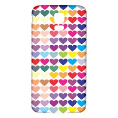 Heart Love Color Colorful Samsung Galaxy S5 Back Case (White)